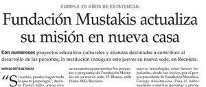 Fundación Mustakis actualiza su misión en nueva casa