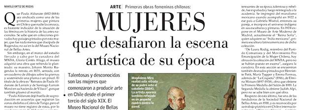 MNBA rinde homenaje a mujeres artistas del siglo XIX y XX